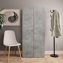 Mueble zapatero de aglomerado gris hormigón