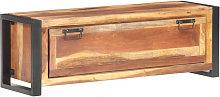 Mueble zapatero de madera maciza acabado sheesham