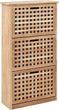 Mueble zapatero de madera maciza de nogal