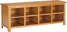 Mueble zapatero de madera maciza de roble