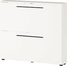 Mueble zapatero GW-Utah 100x19x85 cm blanco -