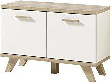Mueble zapatero Oslo color roble Sonoma y blanco