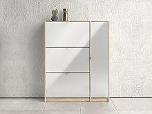 Mueble zapatero URUTI - 3 compartimentos y 1