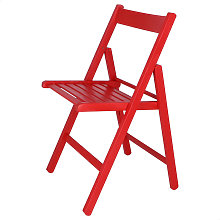 Mueblear - Silla plegable BAS roja