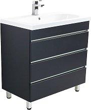 Muebles de baño de pie Talis 70 Antracita