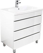 Muebles de baño de pie Talis 70 Blanco brillante