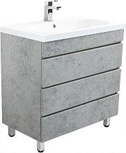 Muebles de baño de pie Talis 70 Gris hormigón