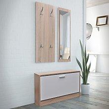 Muebles de entradita con zapatero madera 3 color
