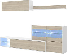 Muebles Salón - Mueble Salón Vitrina LED Blanco