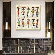 Mujer africana bailando funda de cojín lienzo
