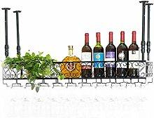 MUMUMI Estante de Exhibición de Vino, Metal,