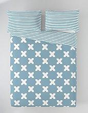 Munich EVO Blue Funda Nórdica, Algodón, Azul,