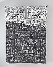 Munich Jet Grey Funda Nórdica, Algodón, Gris,