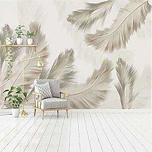 Murales de pared 3D Dormitorio pluma 3D Mural de