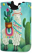 N\A Cesto de lavandería, Cactus Tribal Llama