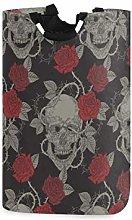 N\A Cesto de lavandería Floral Rosa Cesto de Ropa