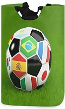 N\A Cesto de Ropa, balón de fútbol Bandera