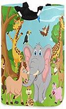 N\A Cesto de Ropa, Jirafa de Elefante Animal