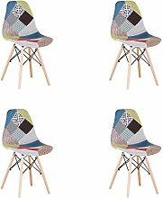 N/A conjunto con 4 sillas de comedor de estilo
