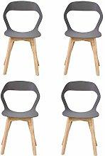 N/A conjunto de cuatro sillas de plástico