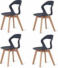 N/A conjunto de cuatro sillas modernas de