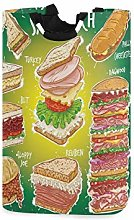 N\A Delicious Food Cesto de lavandería Cesto de