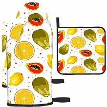Naranja, Papaya y limón, diseño Colorido,
