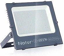 Natur 200W LED Foco Exterior alto brillo