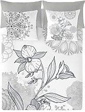 NATURALS Carola Funda Nórdica, Blanco, 105 cm