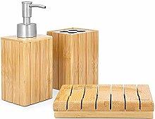 Navaris Set para el baño de bambú - Juego 4