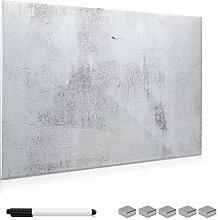 Navaris Tablero magnético de Cristal de 90x60CM -