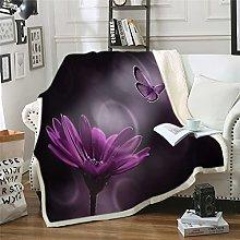 NBVGHJ Manta con Estampado de Mariposas, sofá,