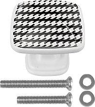 Negro y blanco simple patrón 01Crystal Glass