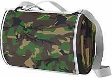 NewLL - Manta de picnic con diseño de camuflaje