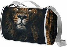 NewLL - Manta de picnic con diseño de león en