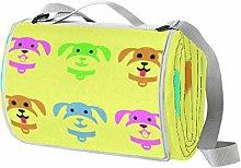 NewLL - Manta de picnic para perros con campanas
