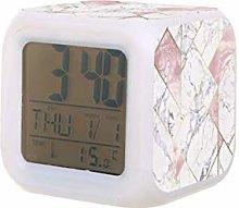 nexus geométrico oro rosa LED reloj despertador
