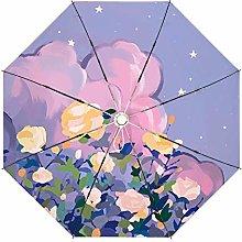 NHP Paraguas de plástico Plateado, sombrilla de