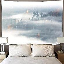 Niebla Bosque Tapiz Colgante de Pared Alfombra