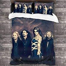 Nightwish - Juego de funda de edredón de 3