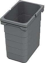 Ninka eins2vier Cubo de basura 7 L gris oscuro