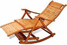 NO BRAND Sillas Playa Bambú Plegable Silla