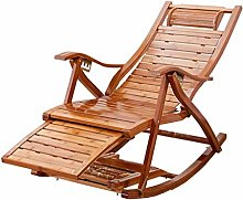 NO BRAND Sillas Playa Doblado Bambú Reclinable,