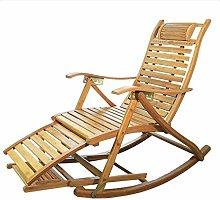 NO BRAND Sillas Playa Reclinable De Bambú