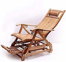 NO BRAND Tumbonas Jardin Bambú Mecedora sillón