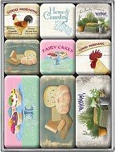 Nostalgic-Art Juego de Imanes Retro Home & Country
