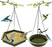 Nrkin Juego de 2 bebederos para pájaros, baño