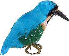 Nukana Plástico Realista Kingfisher Aves