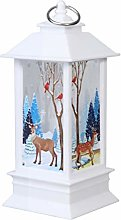 NUOBESTY Tall Christmas Candle Lantern Candle