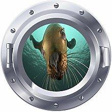 NYJNN 3D ojo de buey sello de ventana submarino